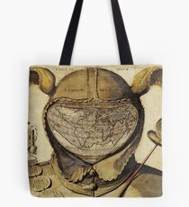 Crazy World antique French joker, court jester map Tote Bag