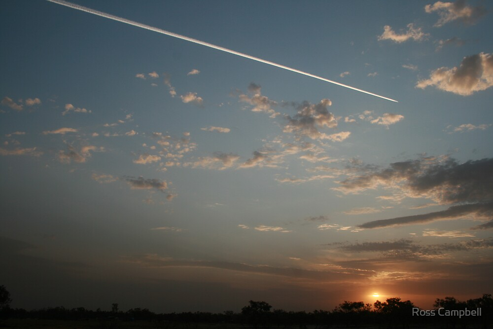 Sunset at Bourke. by Ross Campbell