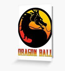 Dragon Ball Mortal Kombat Greeting Card