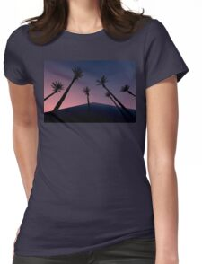 Sunset Palms Womens Fitted T-Shirt