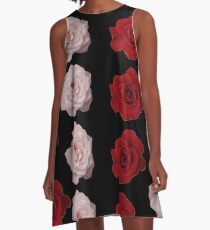 Painted Roses A-Line Dress