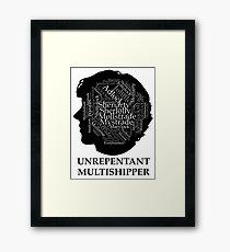 Unrepetant Multishipper Framed Print