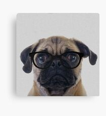 Geek Pug Canvas Print