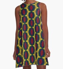 THe Wibbly Wobbly Wave Circle A-Line Dress
