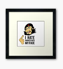 """I hate products with my face"" Che Guevara Framed Print"