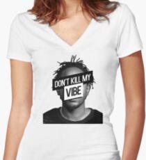 Kendrick Lamar- Don't Kill My Vibe Women's Fitted V-Neck T-Shirt
