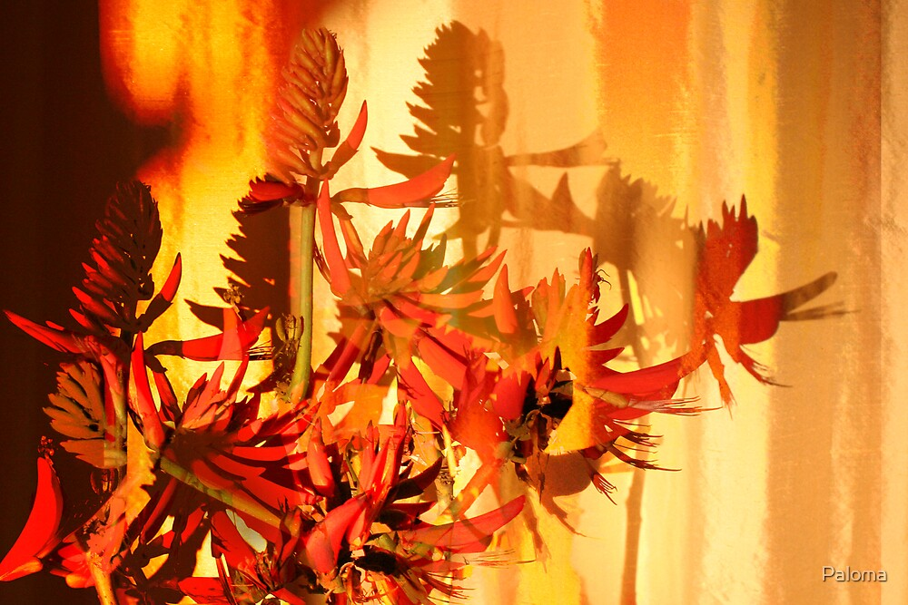 BURNING CORAL FLOWER  by Paloma