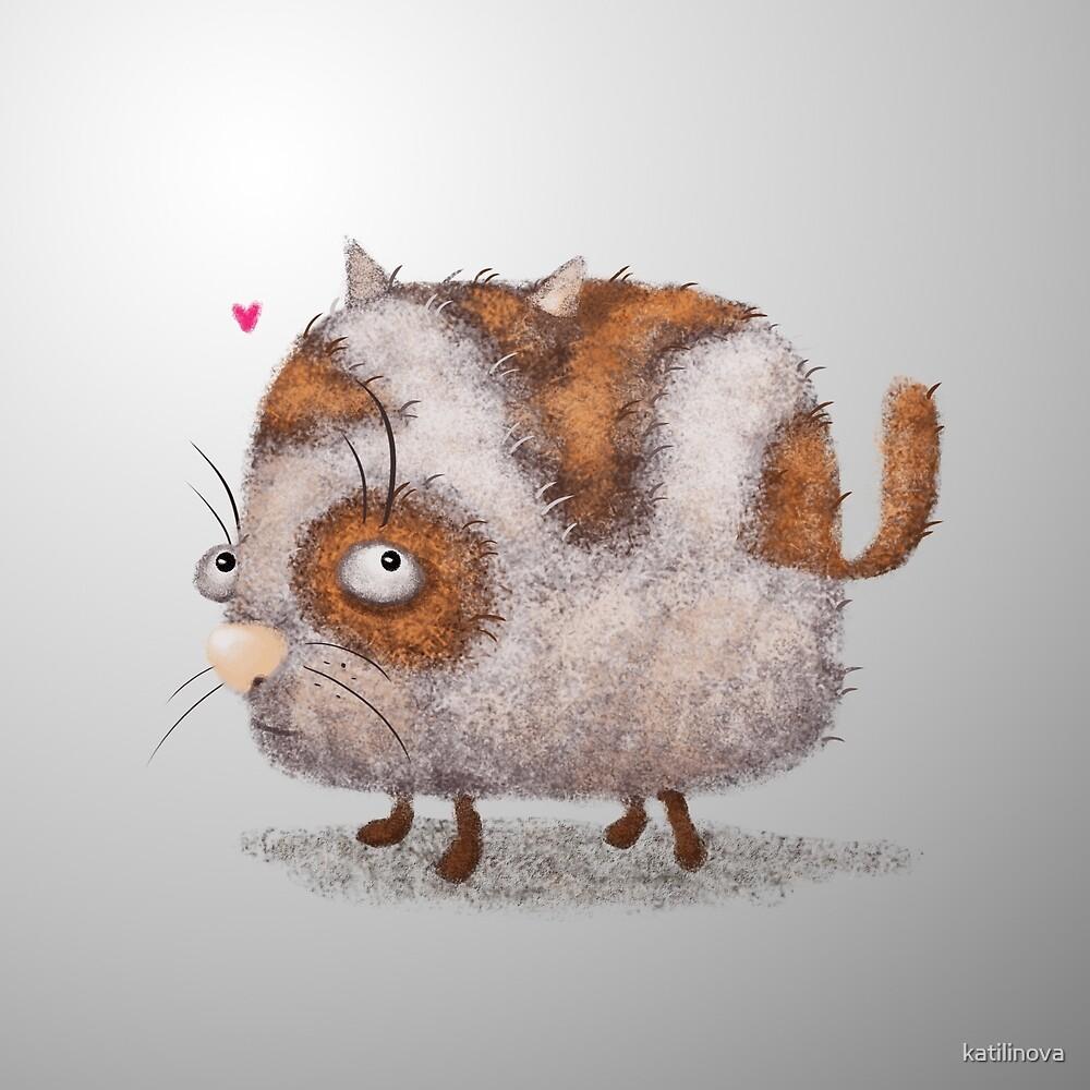 funny spring cat  by katilinova