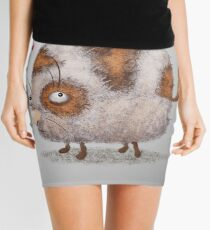 funny spring cat  Mini Skirt