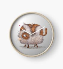 funny spring cat  Clock