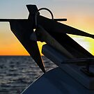 Anchor at Sunset, San Diego by Heather Friedman