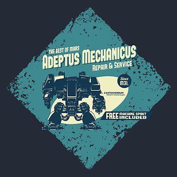Adeptus Mechanicus - Dreadnaught by moombax