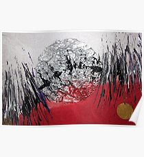 Metallic Abstract (Space) Poster