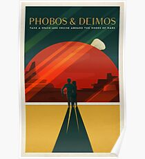 THE MOONS OF MARS - Space | X | Retro | Vintage | Futurism | Sci-Fi | Two Poster