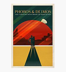 THE MOONS OF MARS - Space | X | Retro | Vintage | Futurism | Sci-Fi | Two Photographic Print