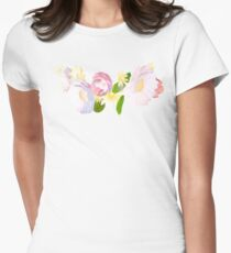 Snapchat Flower Crown Women's Fitted T-Shirt