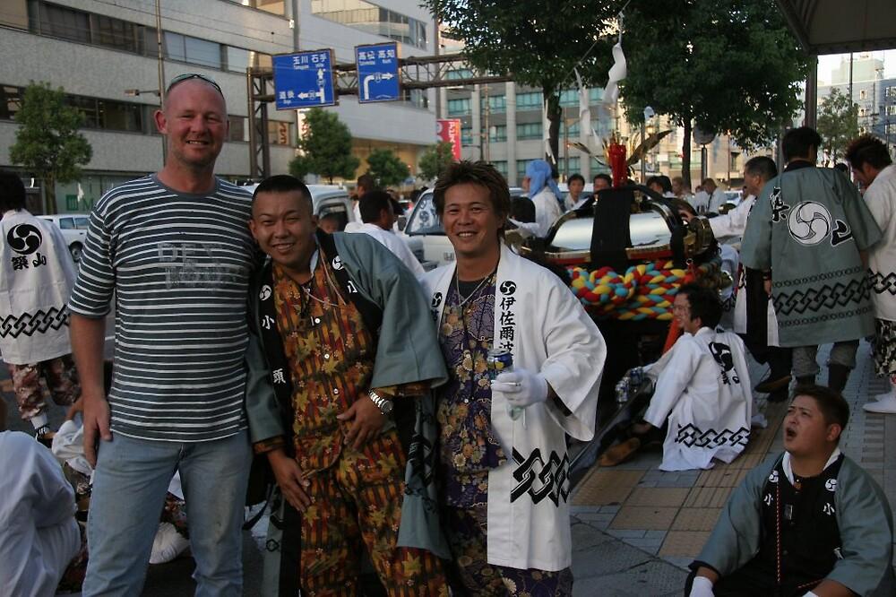 Cultural attache with the Matsuyama warriors - Matsuyama Local Festival  by Trishy