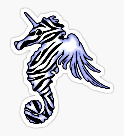 Pegasus Unicorn Zebra Seahorse Sticker