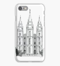 Salt Lake LDS Temple Ink Drawing iPhone Case/Skin