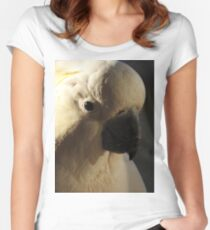 Sulphur Crested Cockatoo Women's Fitted Scoop T-Shirt