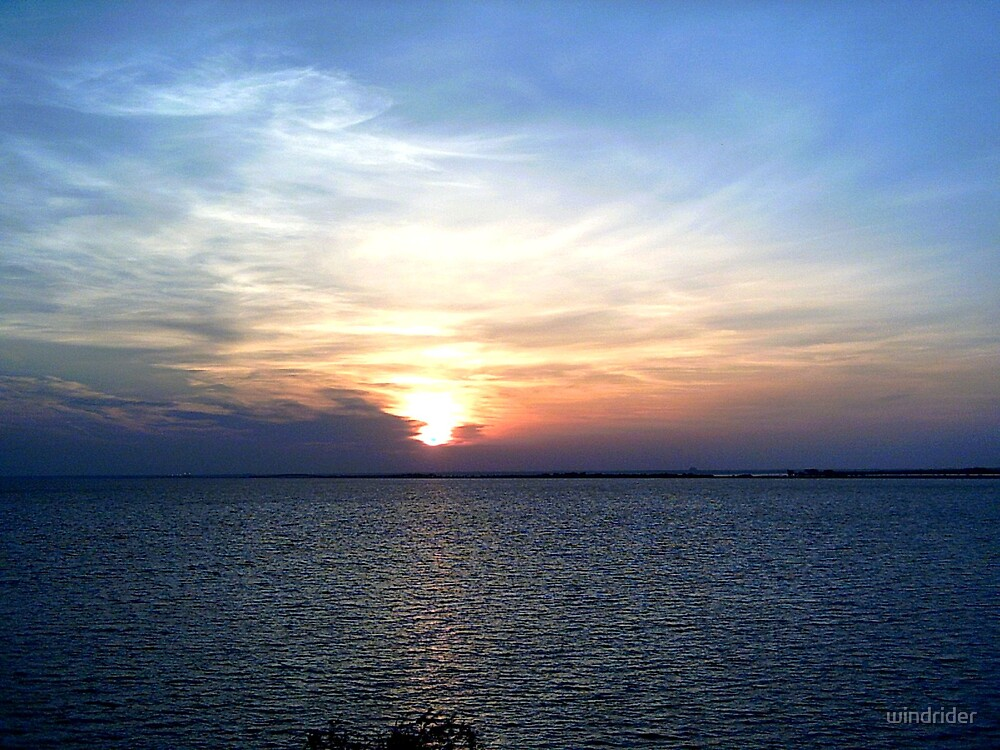 Sunset in tampa Fla by windrider
