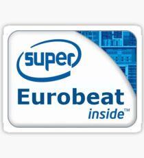 Super Eurobeat inside Sticker
