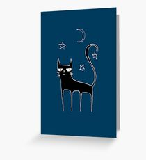 A Black Cat Greeting Card