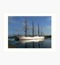 Russian Sail Training Ship Art Print