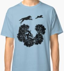 Wolf and Rabbit Forest Silhouettes Classic T-Shirt