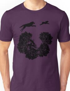 Wolf and Rabbit Forest Silhouettes T-Shirt