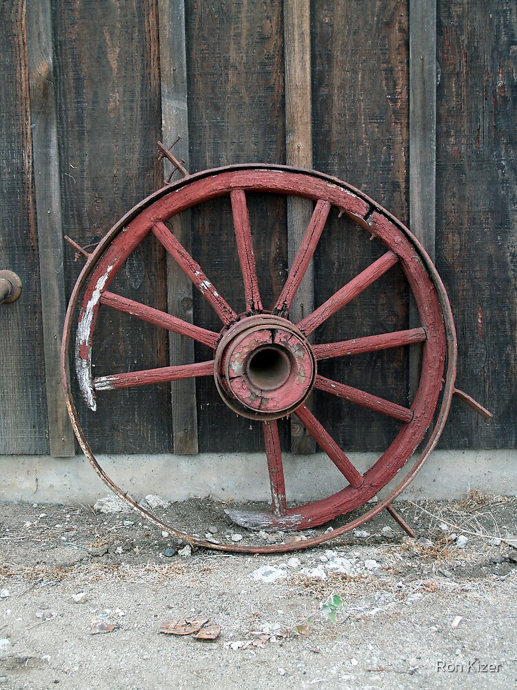 Red Wagon Wheel by Ron Kizer