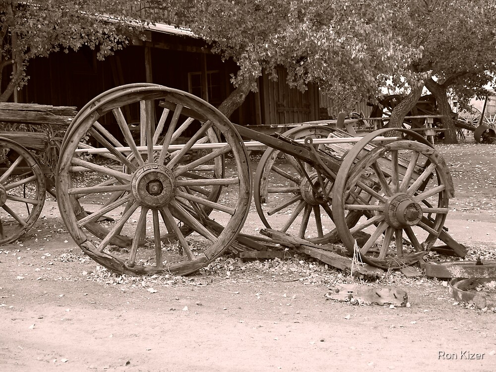Sepia Tinted Wagon by Ron Kizer