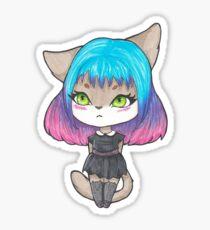 Chibi Cat Girl  Sticker