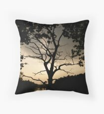 Reaching out into the darkness Throw Pillow