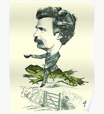 Mark Twain on a Frog Poster