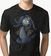 Lamiadusa - Blue and Yellow Tri-blend T-Shirt