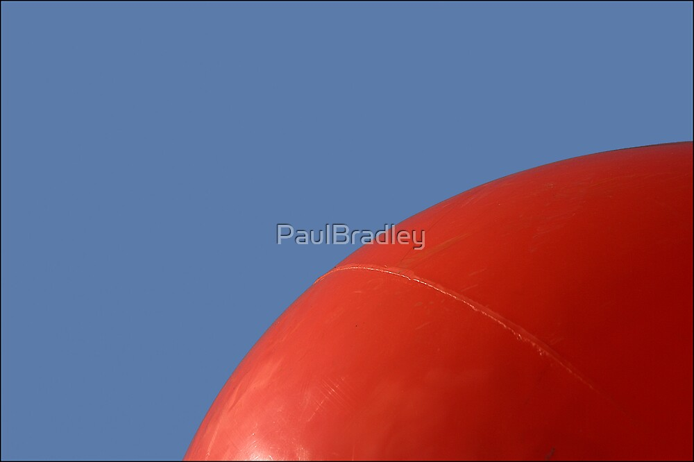 Abstract - Red on Blue by PaulBradley