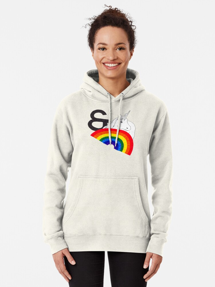 Alternate view of Rainbows & Unicorns Pullover Hoodie