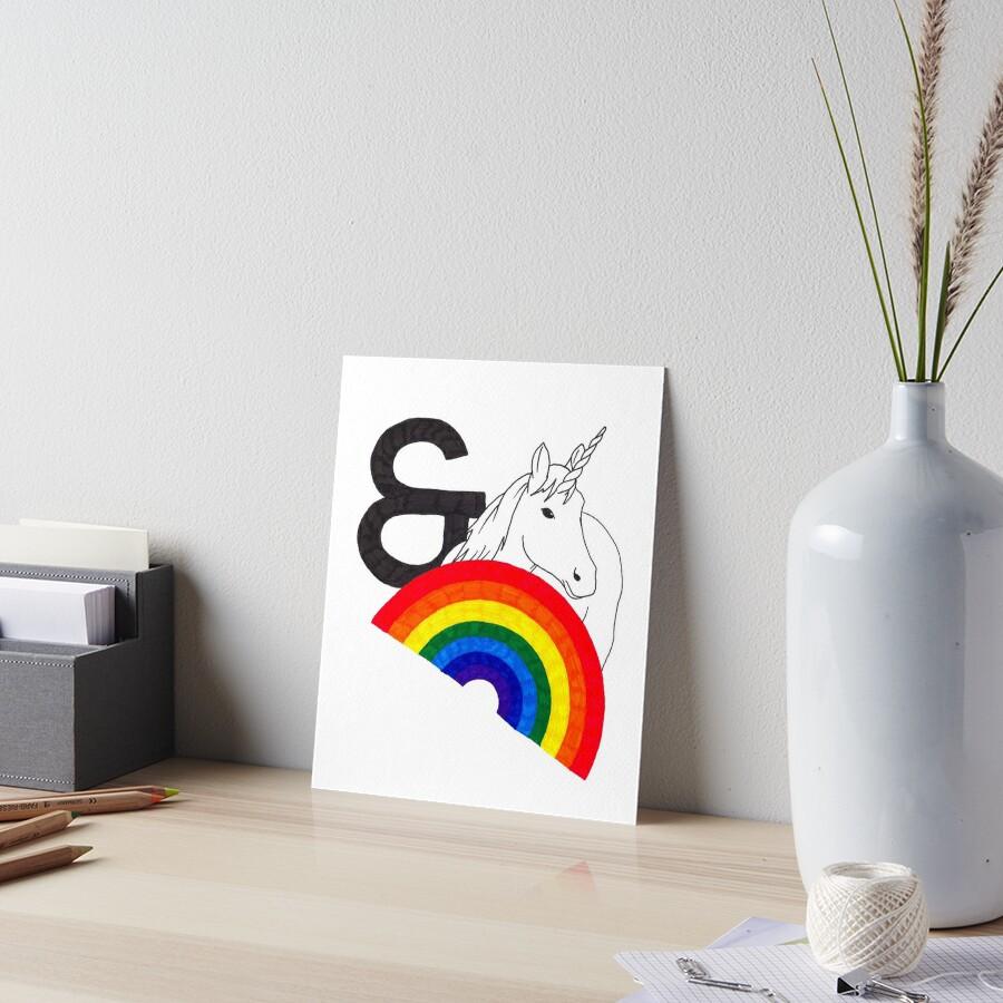 Rainbows & Unicorns Art Board Print