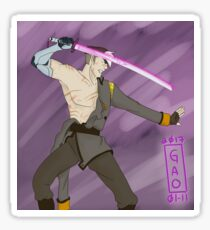 Touken Ranbu Voltron Cross Over - Tachi Takashi Shirogane Sticker