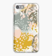 Hutton - Modern Abstract painting in free style with modern colors iPhone Case/Skin
