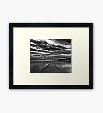 Moonlight On Flathead Lake Framed Print