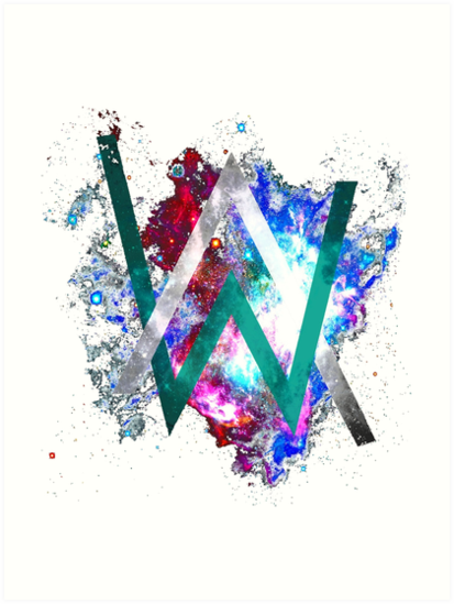 Alan walker art prints by nauella redbubble - Alan walker logo galaxy ...
