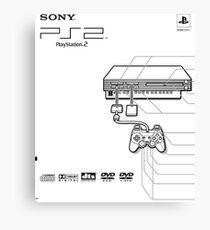 Playstation 2 Blueprint Canvas Print