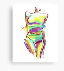 -drawn graphics with beautiful young   girl  Canvas Print