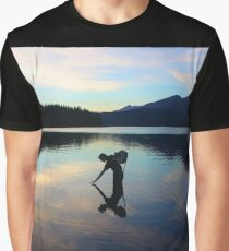 Lake Reflection Silhouette  Graphic T-Shirt