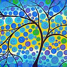 Green Vibrant Tree of Life  by cathyjacobs