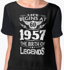 life begins in 1957  Chiffon Top