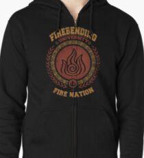 Firebending university Zipped Hoodie