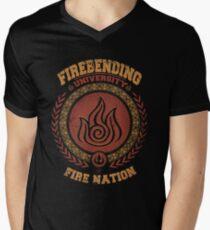 Firebending university Men's V-Neck T-Shirt